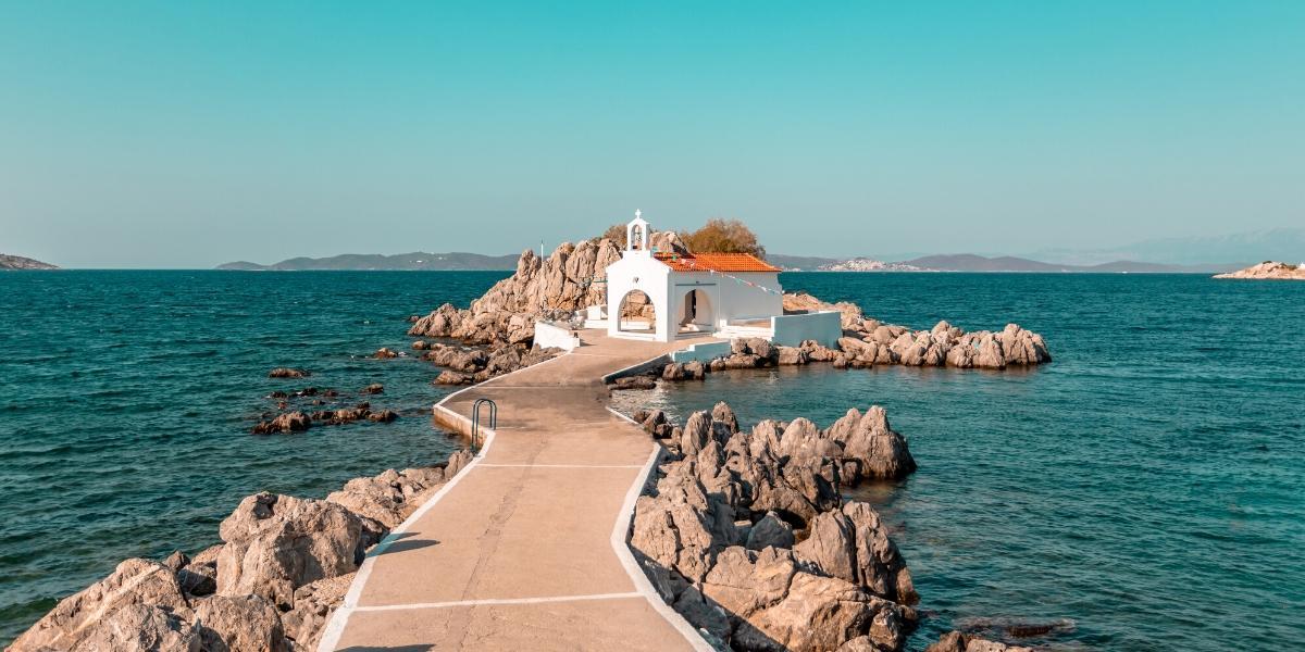 λιμάνι, πέτρες, προβλήτα, θάλασσα, εκκλησάκι, Άη Στράτης