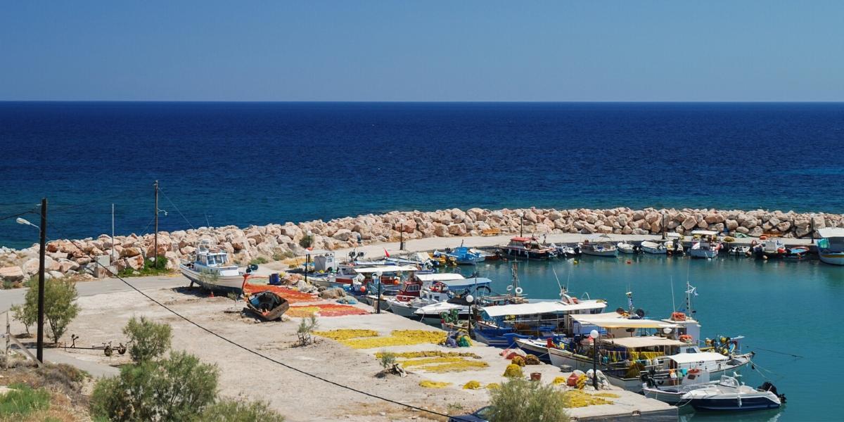 Βάρκες στο λιμάνι της Χίου