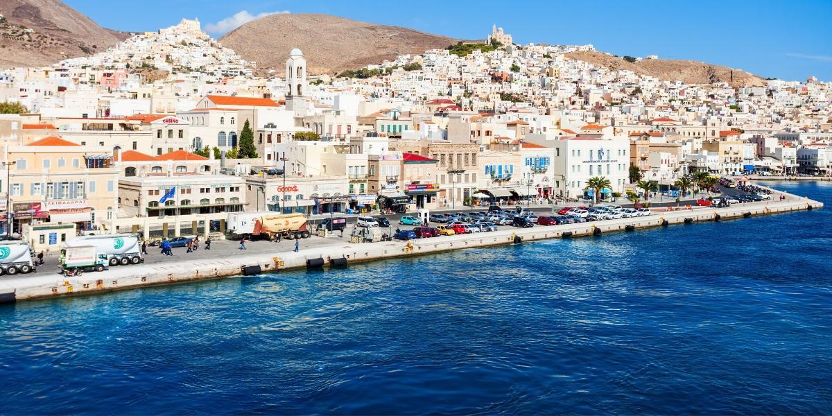 μπλε θάλασσα, Ερμούπολη, Σύρος, κτήρια