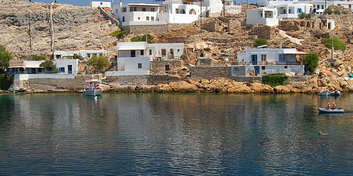 calm waters, sea, rocks, boats, white houses, Sifnos