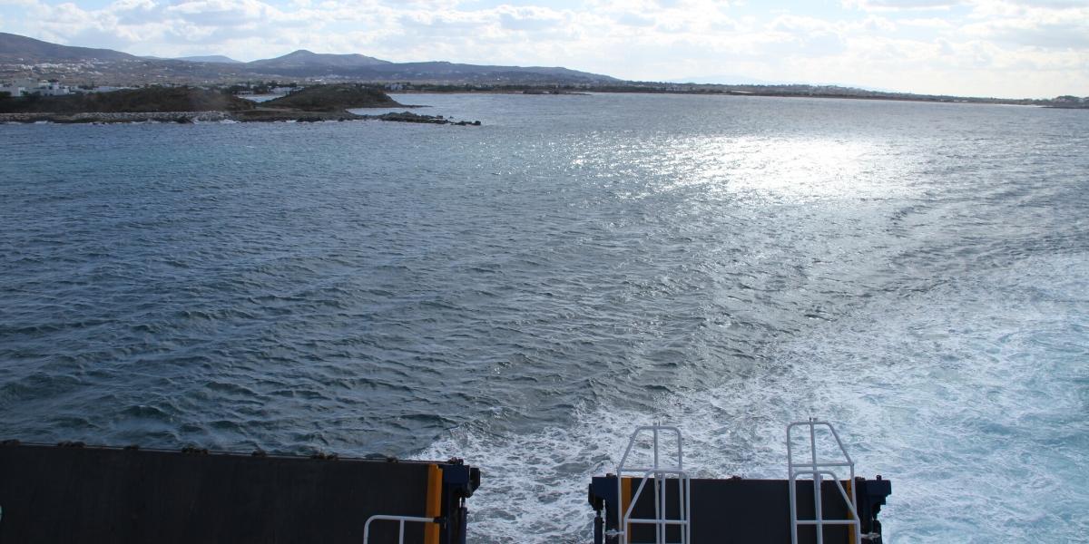 θάλασσα, δρομολόγιο πλοίου, ήλιος, Πάρος