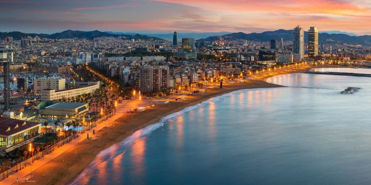 The lively city of Barcelona and its coast