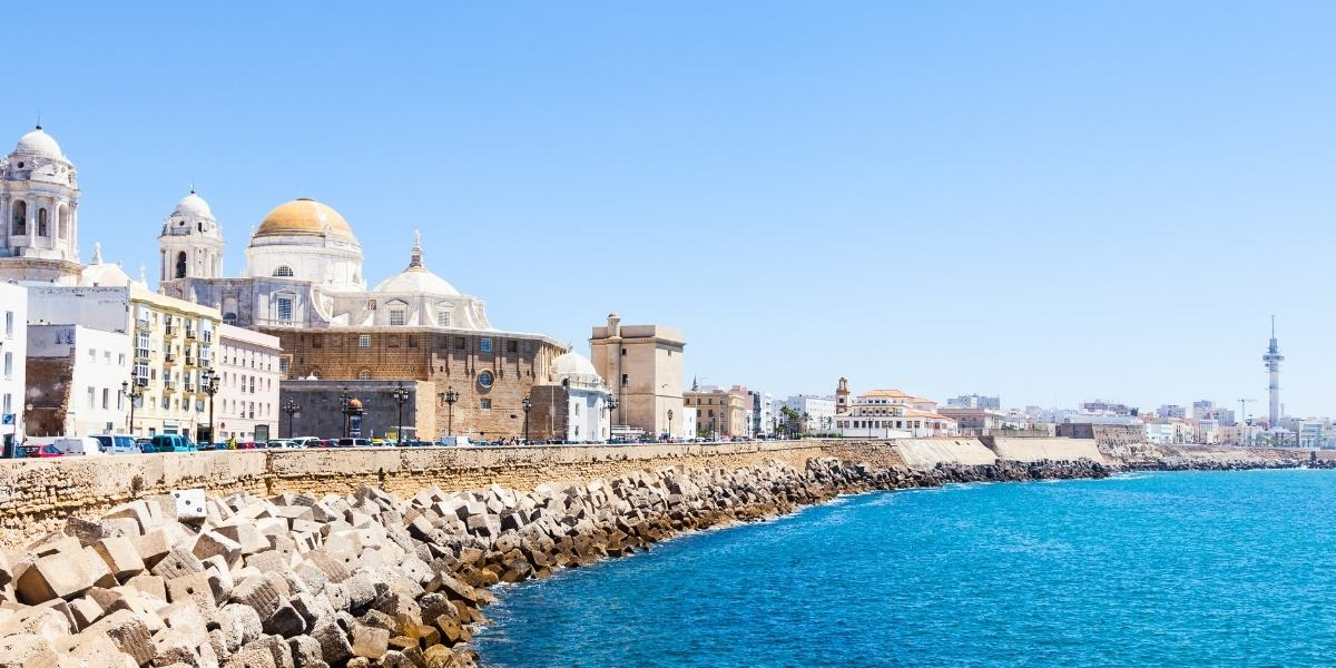 The coastal town and port of Cadiz in Andalusia