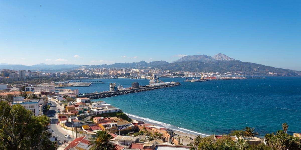 The port of Ceuta in north Africa