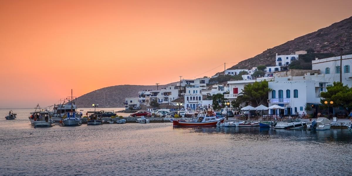 The port of Katapola in Amorgos