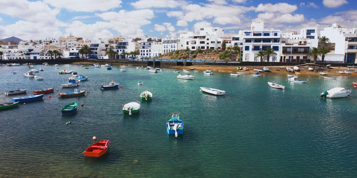 Fishing boats at the port of Arrecife in Lanzarote