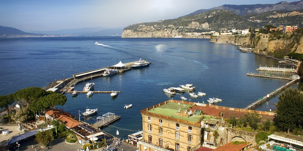 The port of Sorrento, docks, ferries, Capri, Holidays in Italy, ferry tickets