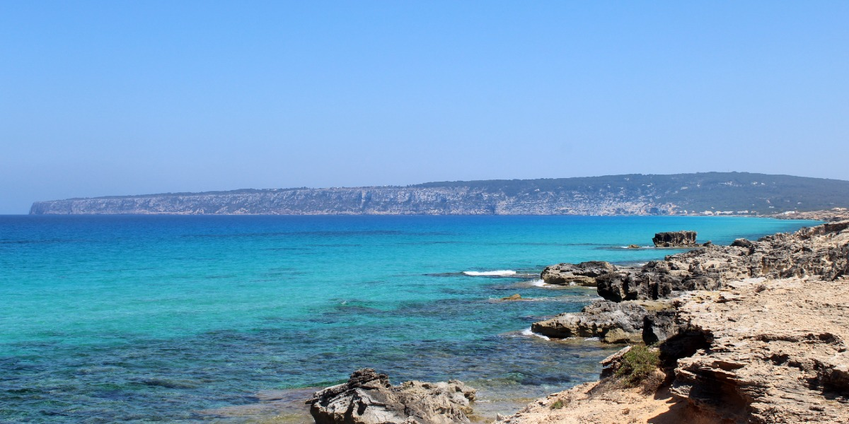 Beach in Formentera, blue sea, nature, eco-tourism, Balearic islands, ferry routes