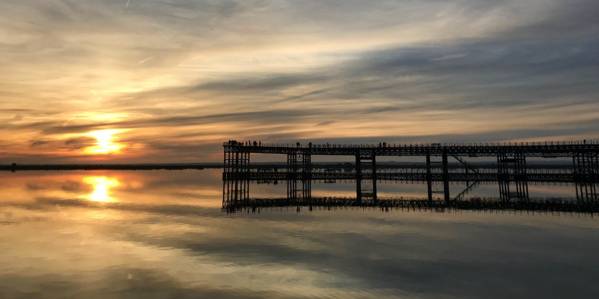 Huelva dock, Sunset, River, Orange, Gran Canaria, Vacation in Andalusia, Ferry tickets