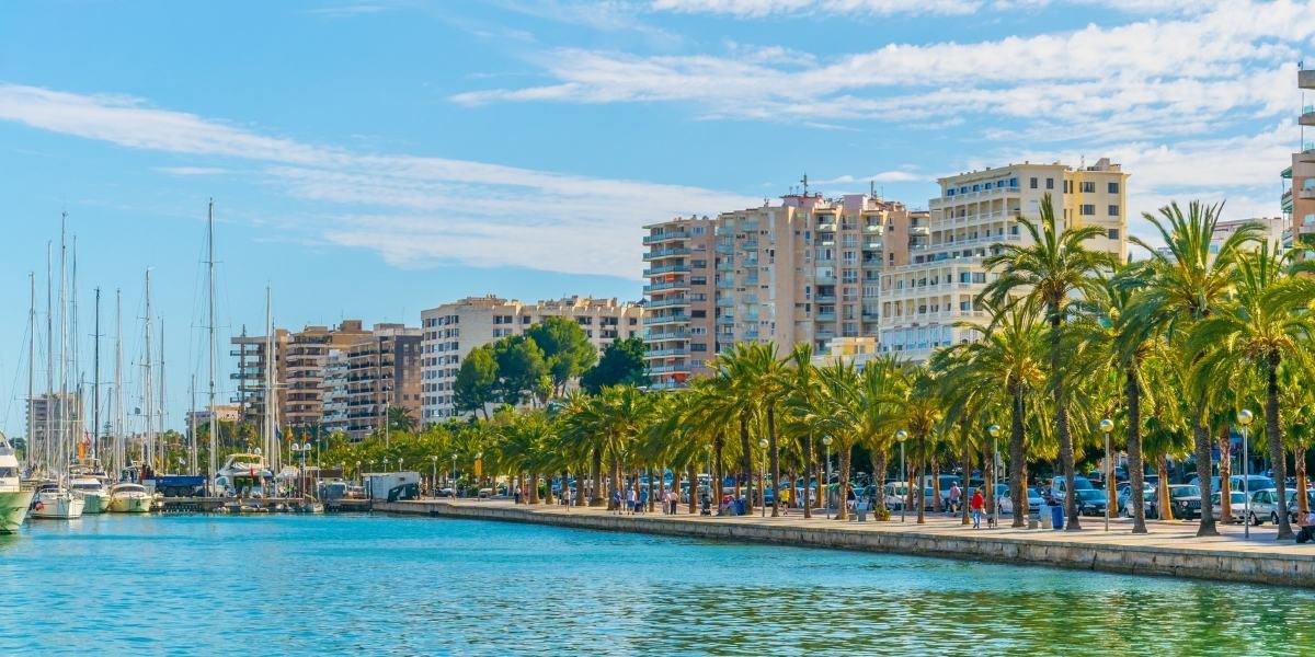 The promenade of Palma de Mallorca