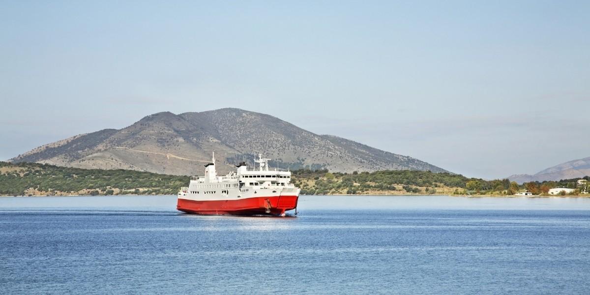 Ferry at the port of Igoumenitsa