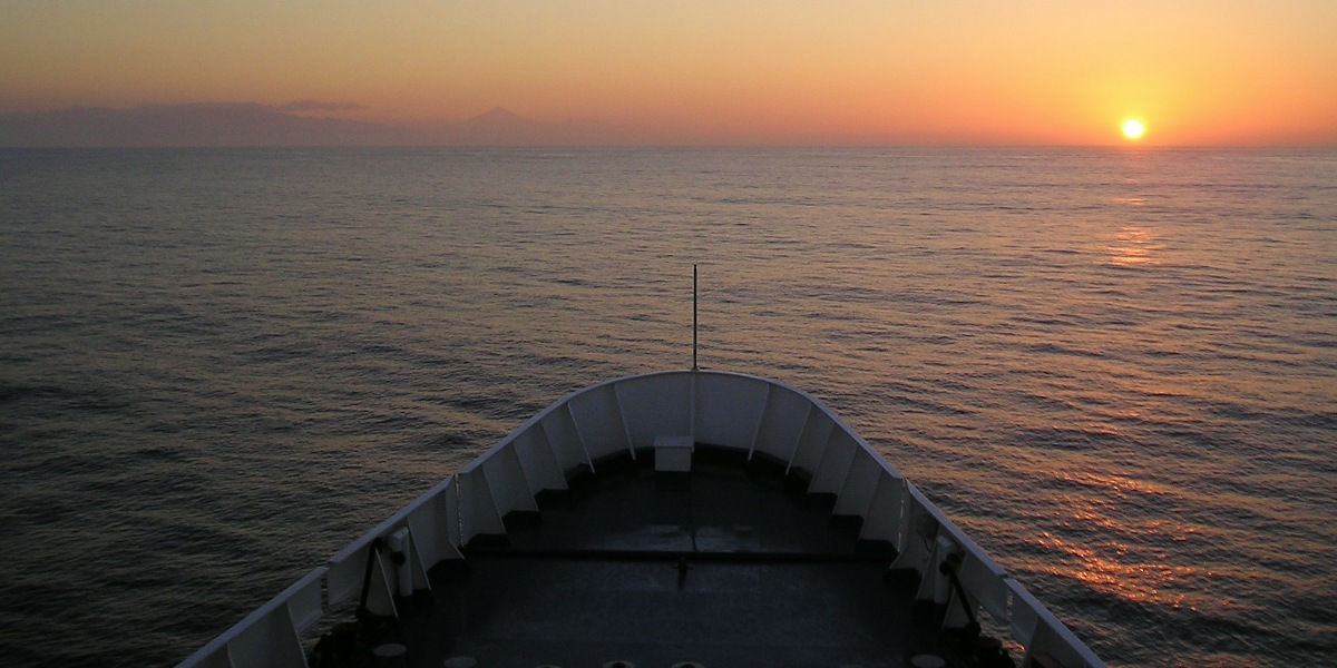 View from ferry, Sea, Sunset, La Palma, La Gomera, Island hopping around Canary Islands, Ferry tickets