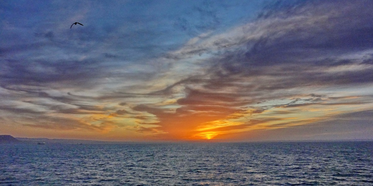 Moroccan sky, sunset, orange and yellow, Al Hoceima, Motril, Ferry tickets