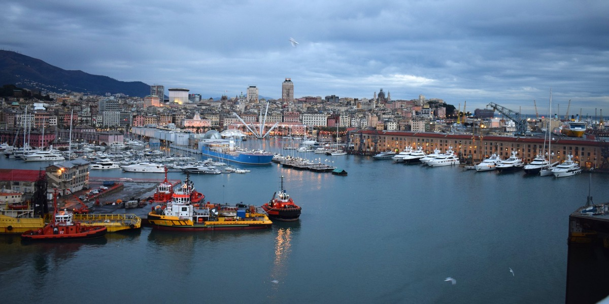 The port of Genoa, ferry arrivals and departures, holidays in Italy, ferry tickets