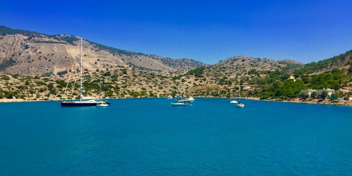 Blue sea in Symi