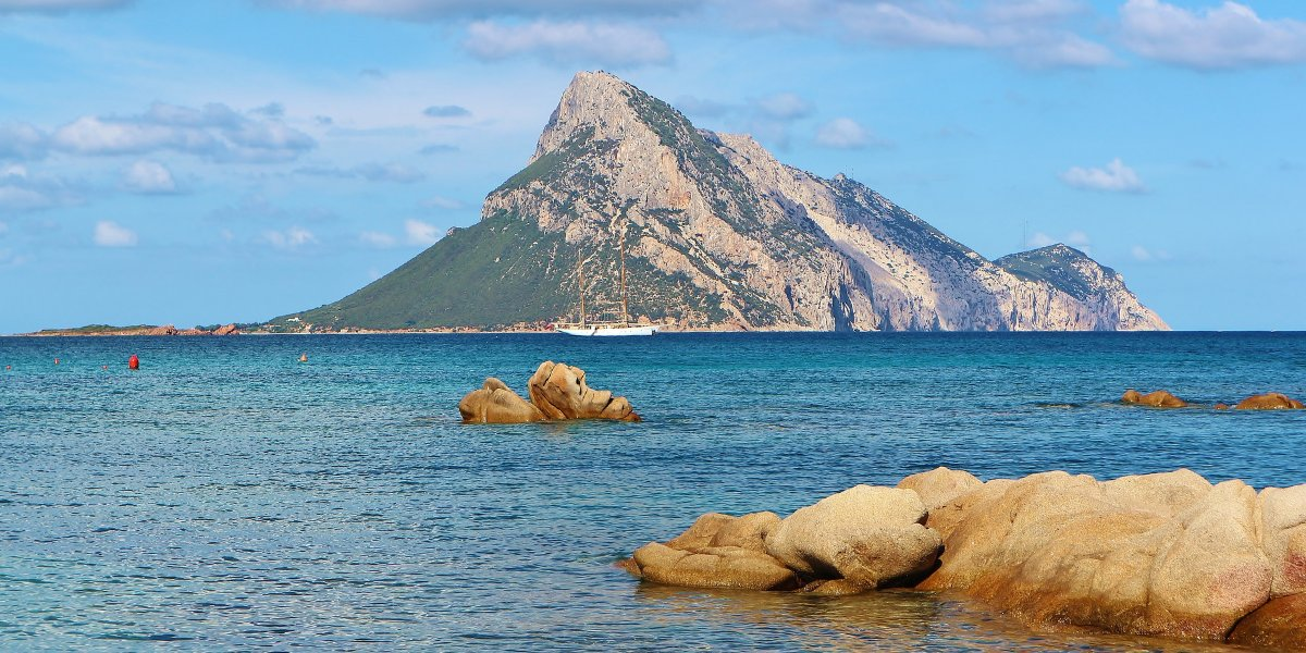 The sea of ​​Olbia, sailing boat, island, traveling to Sardinia, ferry routes and cheap ferry tickets