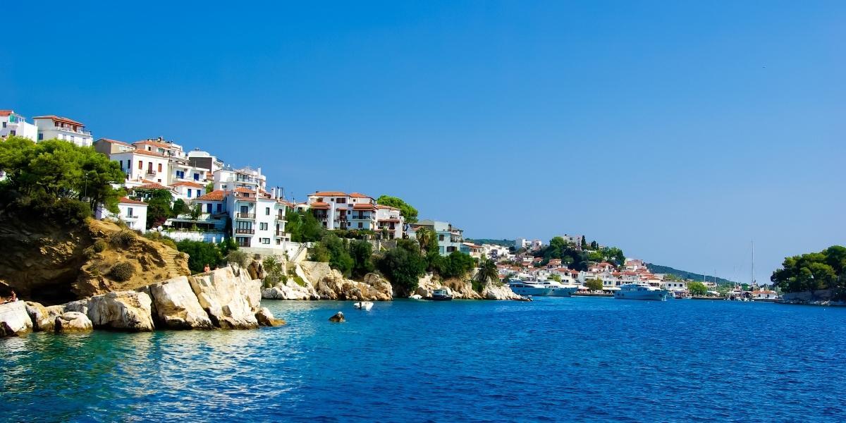 blue sea in Skiathos