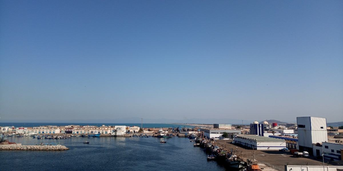 Boats at the port of Nador in Morocco