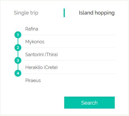 Ferryhopper island hopping functionality