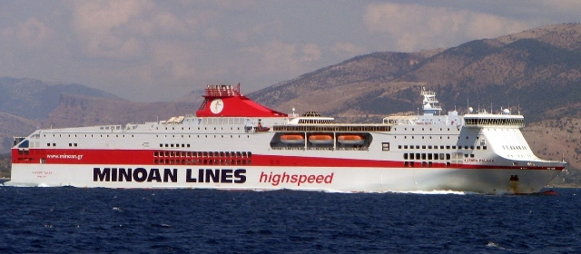 Minoan Lines ferry travelling from Italy to Greece, Early Booking offers, ferry route, cheap tickets