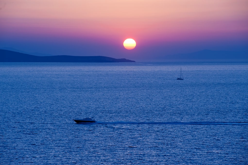 /Sunset above the Aegean Sea