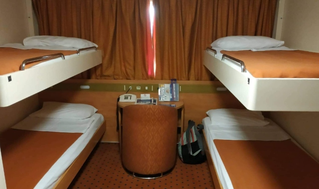 Bed cabin - ferry to Crete - Greek islands - schedules and availability