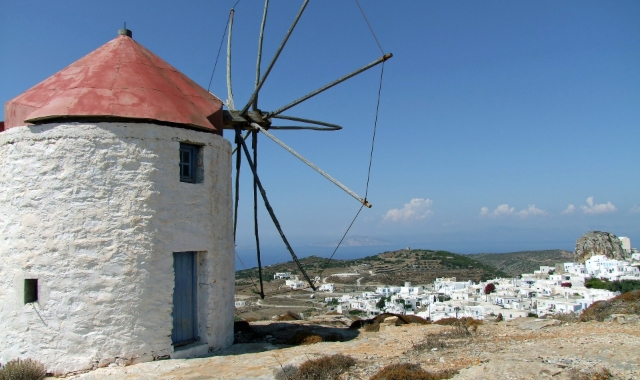 windmill, Naxos - Amorgos - ferry tickets - schedules - summer holidays