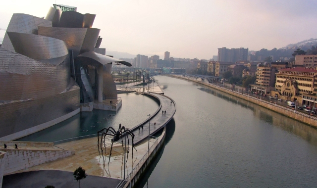 The city and port of Bilbao, northern Spain - Ferry routes from Uk and Ireland