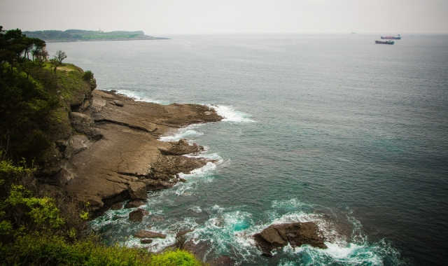 Cliffs and sea in Santander, northern Spain - ferry routes from the UK and Ireland