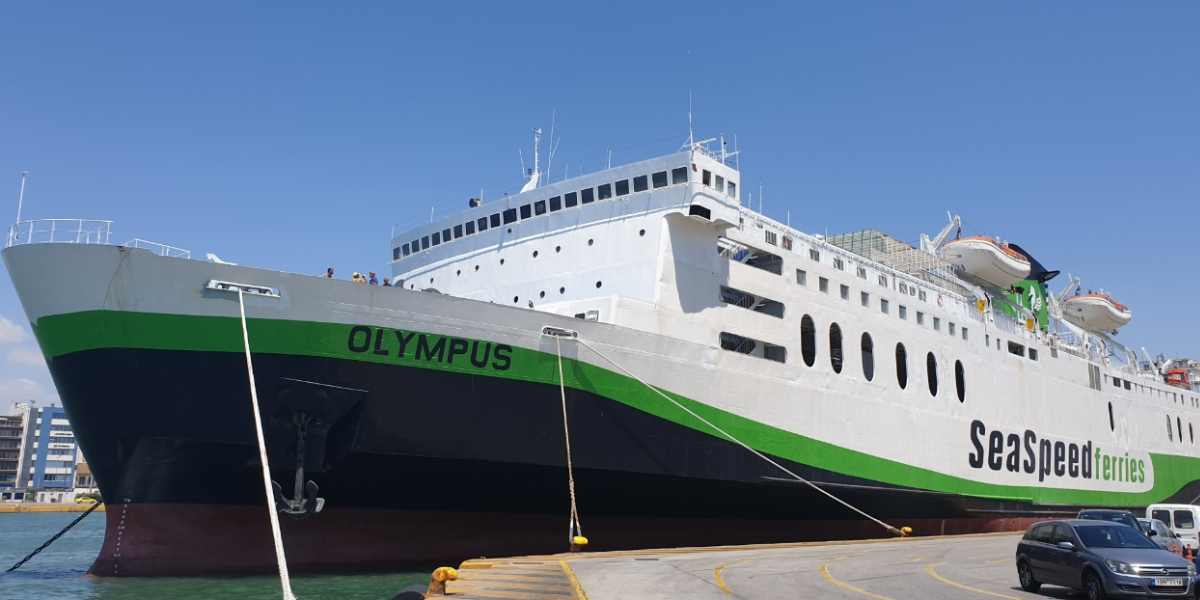 Ferry route Piraeus - Rethymno by OLYMPUS  [Sea Speed Ferries]