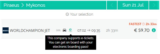 Ferry tickets - seajets - World Champion Jet - e-ticket - online