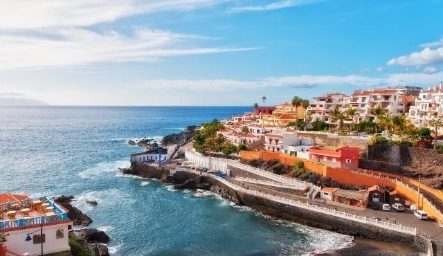 The seaside town of Puerto de Santiago in Tenerife