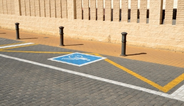 Parking spot for people with disabilities