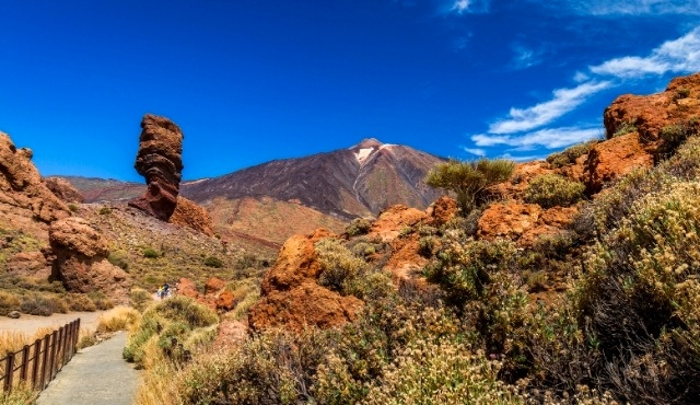 Wheelchair-accessible hiking trail at the foot of Mount Teide in Tenerife
