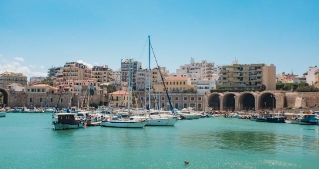 The old port of Heraklion in Crete