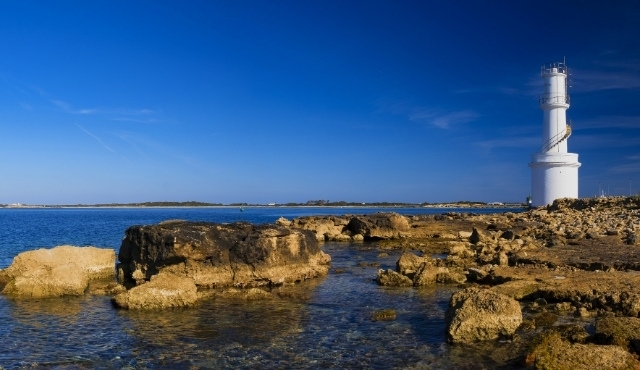 La costa de La Savina, en Formentera
