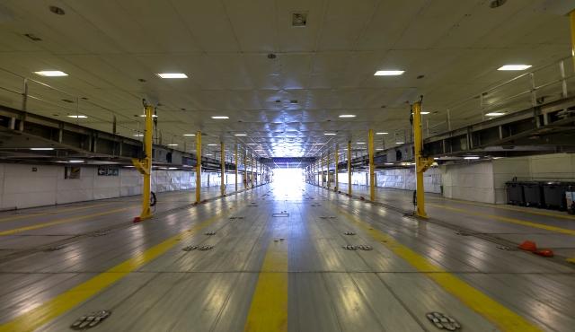 ferry garage, large parking, fred olsen express