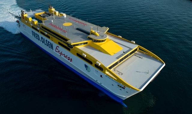 fred olsen express, betancuria, largest ferry, catamaran, highspeed ferry, canaries, sea