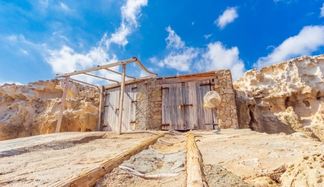 Tradizionale capanna di pescatori ad Ibiza