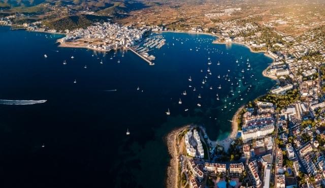 san antonio port, ibiza, balearic island, boats, ferries