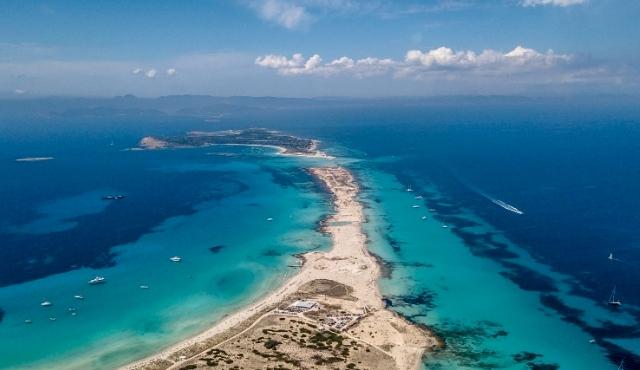 L'isola di Formentera vista dall'alto