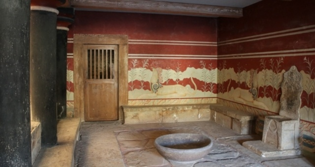 Inside the Palace of Knossos in Crete