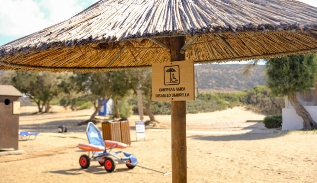 Designated beach spot for people with disabilities in Greece