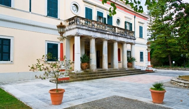 The fully accessible palace of Mon Repos in Corfu