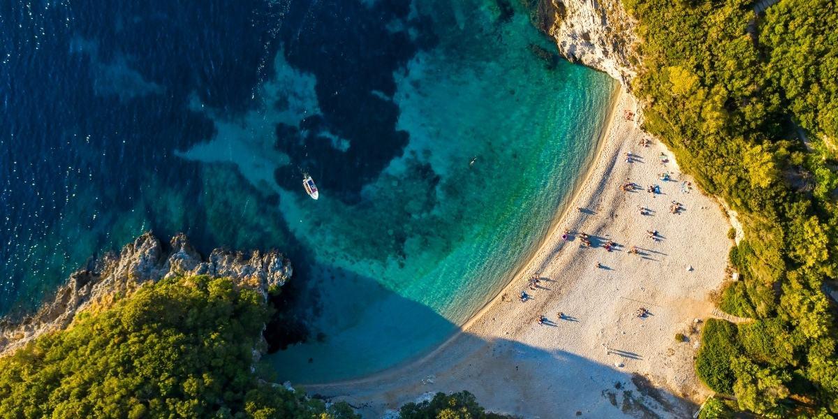 Secluded beach in Corfu