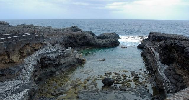 Rock and the sea in El Hierro