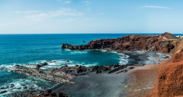 The Golfo bay in Lanzarote