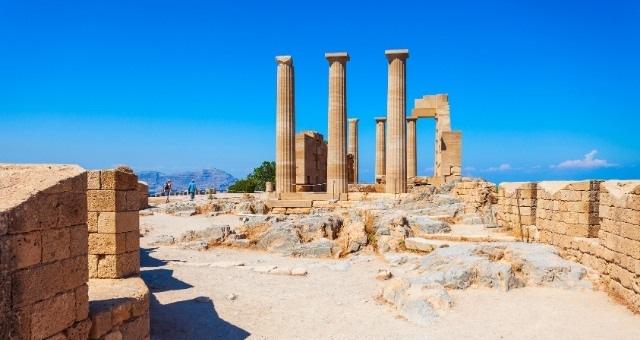 Акропола в Линдос на остров Родос