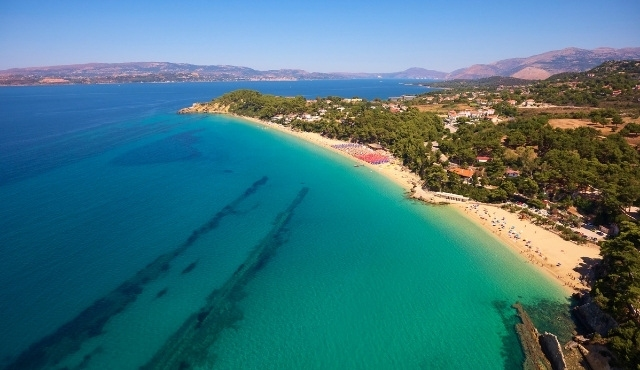 Златистият плаж Макри Ялос на Кефалония