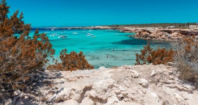 The Cala Saona beach in Formentera, Balearics